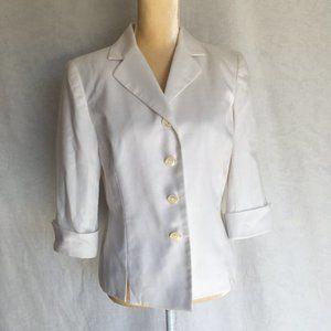 Dress Barn White Short Sleeve Suit Top